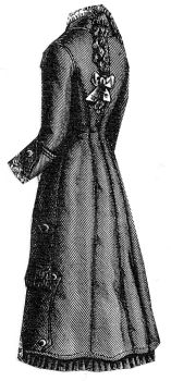 1879 Waterproof Cloak for Girl 12-14 Years Pattern