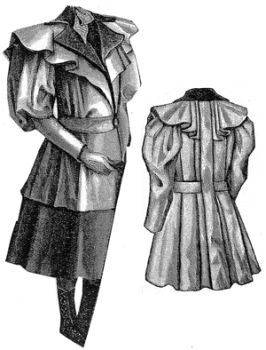 1894 Tan Jacket for Girl 10-12 Years Pattern
