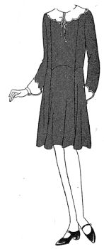 1930 Wool Crepe Dress for Girl 14 Years Pattern