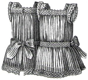 1889 Striped Apron for girl 4-6 Years Pattern