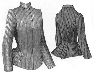 1889 Young Lady's Spring Jacket Pattern