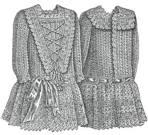 1889 Crochet Frock for Child Pattern