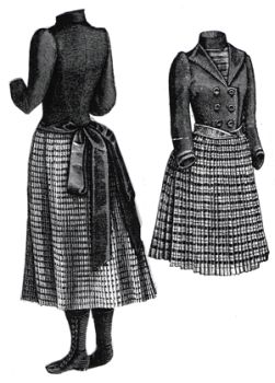 1889 Frock for Girl 9-11 Years Pattern
