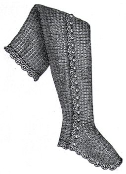 1889 Girls Crochet Leggings Pattern/Instructions