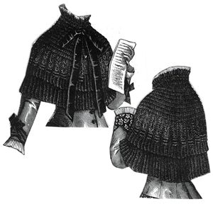 1879 Cashmere and Lace Cape Pattern