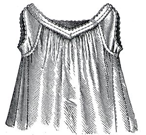1879 Chemise for Girl 5-7 years Pattern