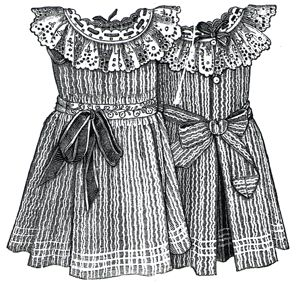 1894 Apron for Girl 4-6 Years Pattern