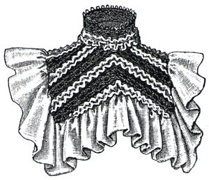 1894 Chiffon & Lace Collaret Pattern