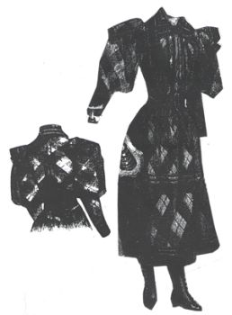 1894 Plaid Dress for Girl 11-13 Years Pattern