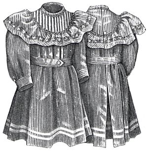 1894 Gingham Apron for Girl 4-6 Years Pattern