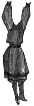 1894 Gymnasium Dress for Girl 10-12 Years Pattern