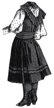 1894 Navy Blue Frock for Girl 4-6 Years Pattern