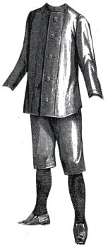 1894 Gymnasium Suit for Boy 8-10 Years Pattern