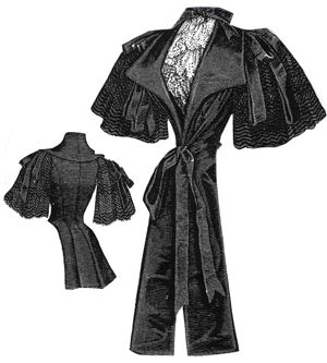 1894 Black Satin & Lace Wrap Pattern