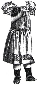 1894 White Dimity Frock for Child 2-3 Years Pattern