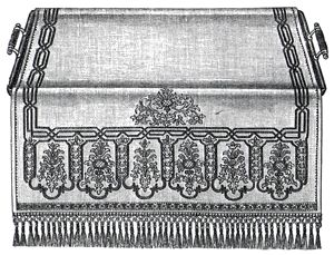 1894 Embroidered Side Table Cloth Pattern/Instructions