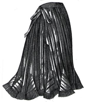 1894 Striped Silk Petticoat Pattern