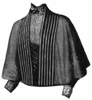 1894 Gray Wool Cape