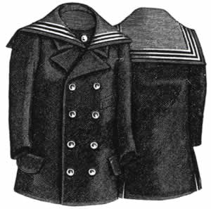 1894 Reefer Jacket for Boy 4-6 Yrs