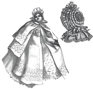 1894 Baby's Cloak and cape