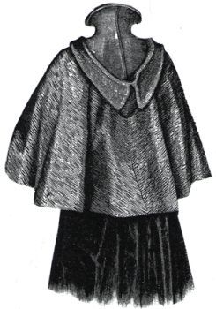 1894 Cape with Hood of Double Faced Cloth