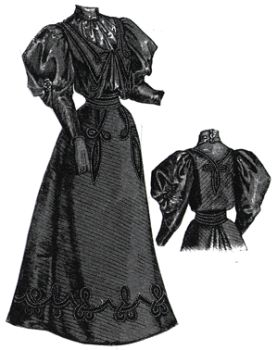 1894 Young Ladies Outing Dress