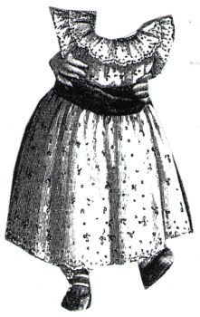 1894 Baby's Short Embroidered Frock
