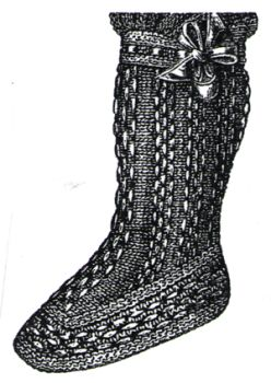 1894 White Baby's Knitted Bootee