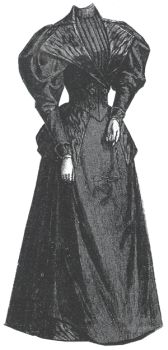 1894 Dark Blue Dress for Elderly Lady
