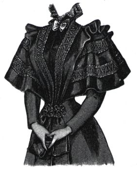 1894 Ribbon and Lace Cape
