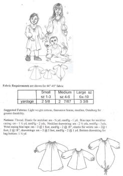 Easy Renaissance Child`s Shirt/Chemise Pattern
