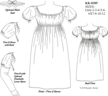 1790-1820 Girls Frock Pattern