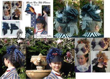 Early 1870's to 1880's Bustle Hat Pattern