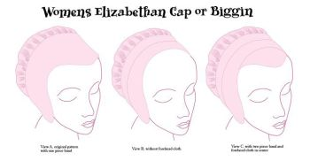 Woman Elizabethan Cap or Biggins