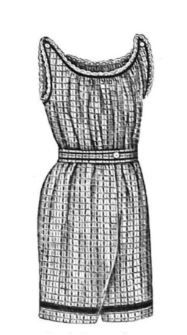 1870 - 1895 Simple Swimming Dress Pattern