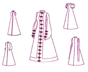 1500-1630 Spanish Loose Gown
