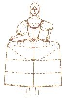 1740-1820 Court Hooped Petticoats Pattern