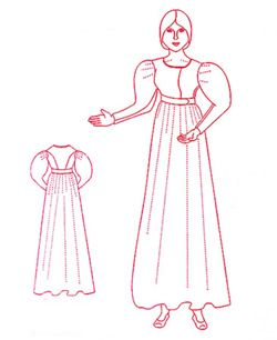 1825 - 1830 Day Dress Pattern