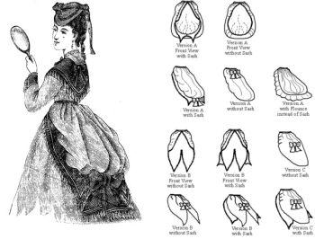 1868 -1888 Camargo Sash Bustle Drapery Pattern