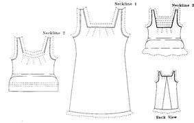1870s-1890s Victorian Chemise Pattern