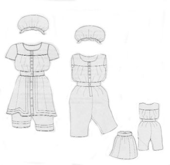 1880s Bathing Suit Pattern