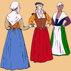 The Elizabethan Working Woman's Wardrobe Pattern