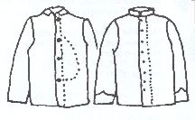 Boys Union Sack or Confederate Regimental Coat Pattern