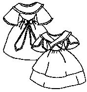 Girl's Dress with Fichu Pattern