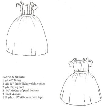 Girl's Pleated/Gathered Everyday Dress Pattern
