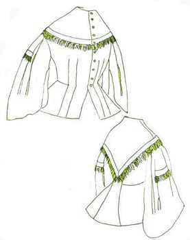 1800s Day Bodice with Basques Pattern