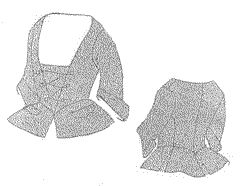 1735-1740 Open Front Jacket Pattern