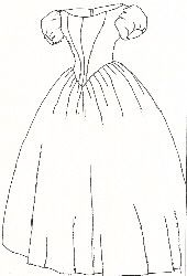 1860's Evening Dress Pattern