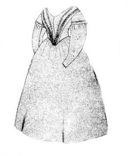 1845 Day Dress Pattern