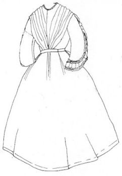 1850s to 1860s Sheer Summer Dress Pattern